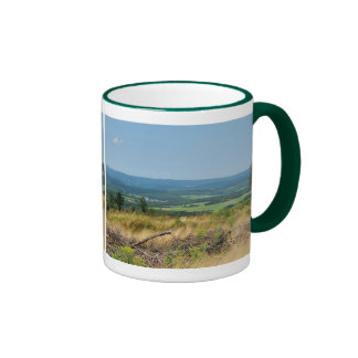 Cup of landscape in the winner country, cold oak