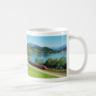 Cup of large Alpsee with Immenstadt