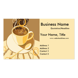 Cup of Latte 2 Business Cards