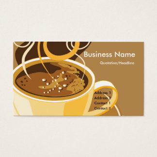 Cup of Latte Business Cards