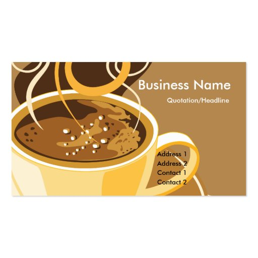 Cup of Latte Business Cards (front side)