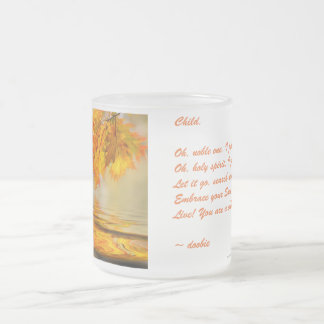 Cup of Love Poem - Child 10 Oz Frosted Glass Coffee Mug