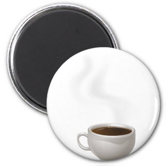 Cup of Steaming Coffee Fridge Magnet