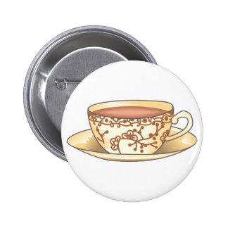 CUP OF TEA PINBACK BUTTONS
