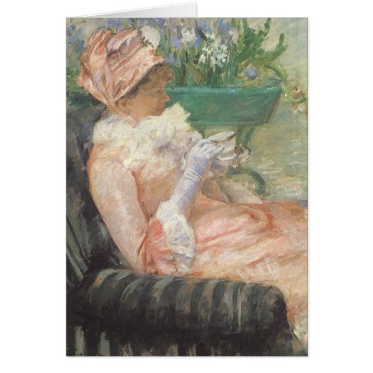 Cup of Tea by Mary Cassatt, Vintage Impressionism Card
