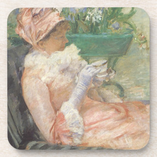 Cup of Tea by Mary Cassatt, Vintage Impressionism Drink Coaster