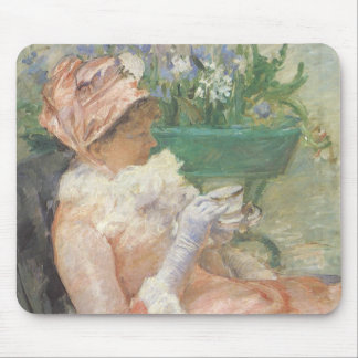 Cup of Tea by Mary Cassatt, Vintage Impressionism Mouse Pad