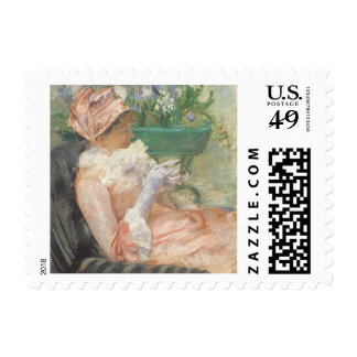 Cup of Tea by Mary Cassatt, Vintage Impressionism Postage
