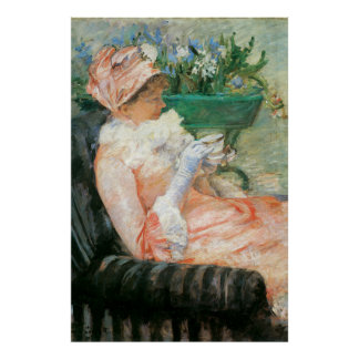 Cup of Tea by Mary Cassatt, Vintage Impressionism Poster
