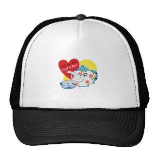 Cup of tea love old illustration trucker hat