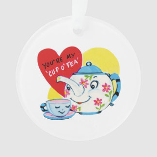 Cup of tea love old illustration ornament