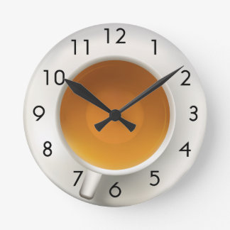 Cup of Tea Round Clock