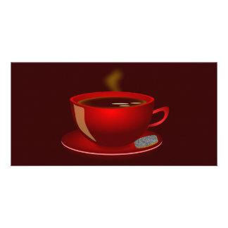 cup_of_tea_Vector_Clipart TEA COFFEE Red Mug Card