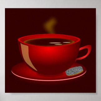 cup_of_tea_Vector_Clipart TEA COFFEE Red Mug Poster
