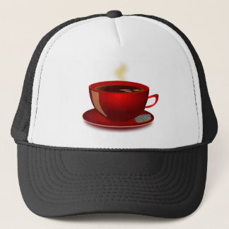cup_of_tea_Vector_Clipart TEA COFFEE Red Mug Trucker Hat