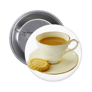 Cup of tea with cookie buttons