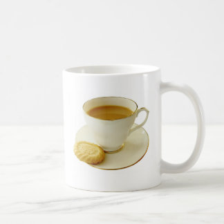 Cup of tea with cookie mugs