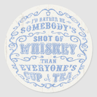Cup of Whiskey Classic Round Sticker