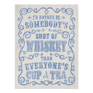 Cup of Whiskey Poster