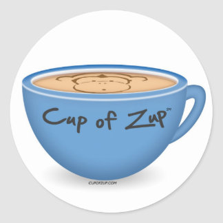 Cup of Zup round stickers