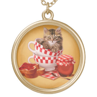 Cup o'Kitten Gold Plated Necklace