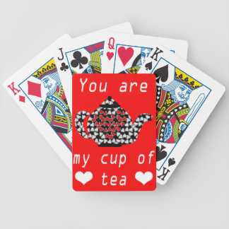 Cup or Tea Bicycle Playing Cards