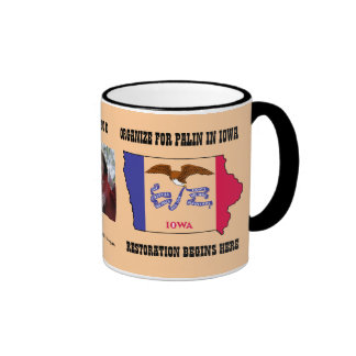 Cup Organize For Palin In Iowa Mugs