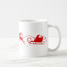 Cup Reindeers And Santa Claus at Zazzle