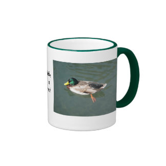 Cup resting duck: take A remainder Mugs