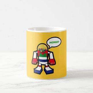 cup robot bubble gum head.