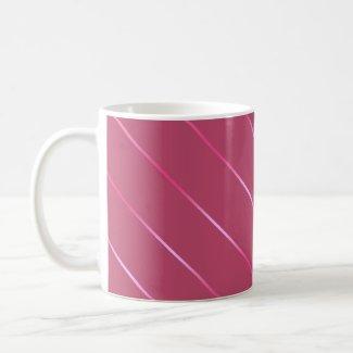 Taza - Líneas Rosa Taza Básica Blanca