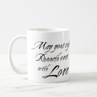 CUP RUNNETH OVER WITH LOVE custom photo bridal