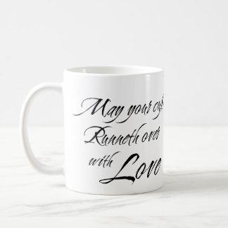 CUP RUNNETH OVER WITH LOVE custom photo bridal Classic White Coffee Mug