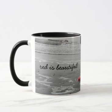 "Beach Themed Cup ""talk is beautiful """
