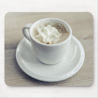 Cup Themed, A White Cup Of Sweet Foamy Espresso. U Mouse Pad
