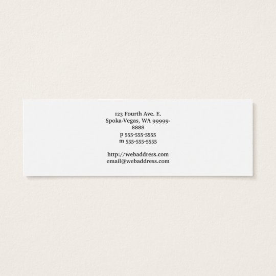 Cup To Go Coffee Mini Business Card