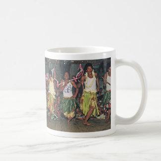"Cup,Tongan Dancers, ""Where the Day Begins"" Coffee Mug"