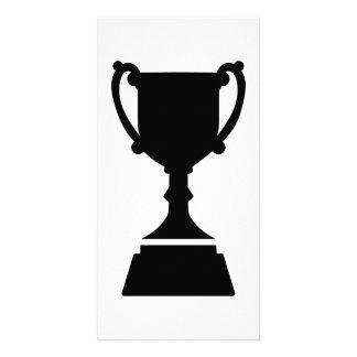 Cup trophy photo card