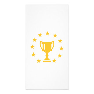 Cup trophy stars photo card