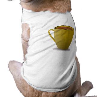 cup_Vector_Clipart caliente del café Camisetas De Perro
