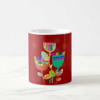 cup with abstract flower sample classic white coffee mug