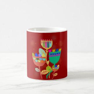 cup with abstract flower sample coffee mug