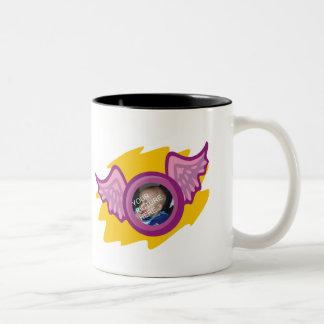 Cup with angel wing frame coffee mug