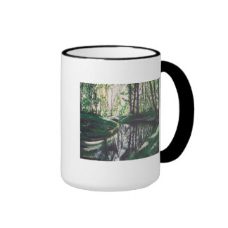 Cup with beautiful forest picture