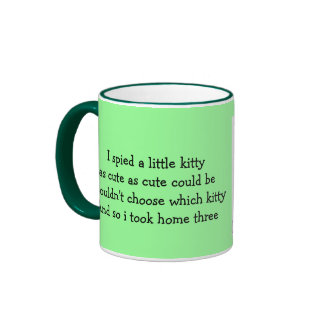 cup with boy with kittens.. mug