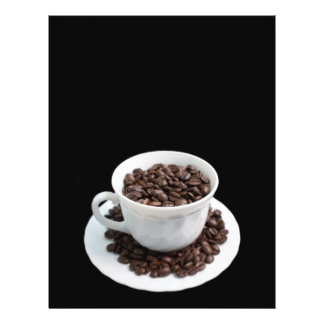 Cup with coffee beans flyer