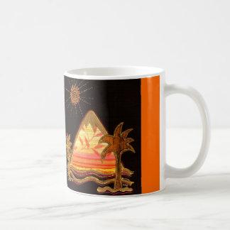 "Cup with Dreamland motive ""mountain with palm "" Classic White Coffee Mug"