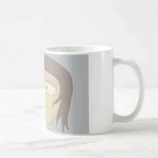 Cup with girl drawing classic white coffee mug