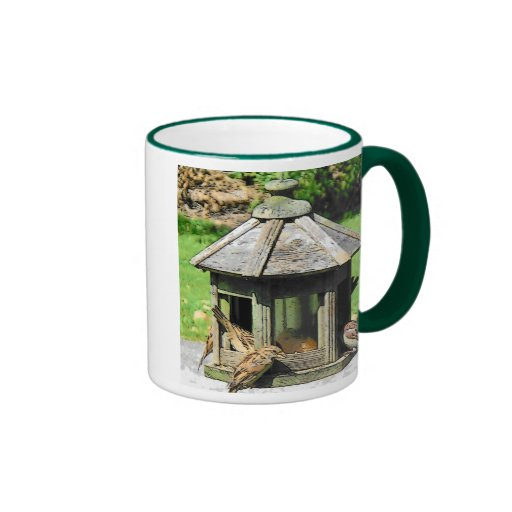 Cup With Handle To Match Design Ringer Coffee Mug Zazzle