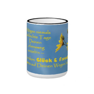 Cup with Irish benediction saying